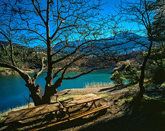 Tsivlos Lake (Giovanni C.) Tags: escan01332 film mamiya mediumformat mf nohdr mamiya7 mamiya7ii 6x7 7ii lovefilm gcap giovannic fuji v700 scan scanned scenic landscape nature saveearth hellas griechenland ελλάσ ελλάδα greece grecia europe