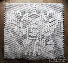 Coat of arms of Russia (Andrey Ermakov) Tags: origami tessellation tess andreyermakov crease fold paper heraldic russia