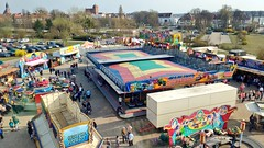 Rummel (ThomasKohler) Tags: rummel rummelplatz volksfest jahrmarkt kirmes festplatz festwiese warenmüritz luftbild vonoben karussell carousel festival carnival parishfair funfair amusementpark kermis
