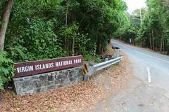 Centerline Road sign (daveynin) Tags: road sign nationalpark nps welcome boundary virginislands usvi deaftalent deafoutsidetalent deafoutdoortalent