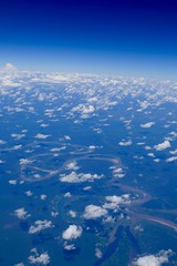 Peruvian Selva / Jungle on Flight Iquitos - Lima Peru (roli_b) Tags: mountains river airplane airport amazon lima air selva flight lan andes iquitos
