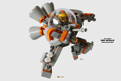 Das Apollo 1980s Space-Mech (clmntin.E) Tags: classic movie suits lego mechanical space military hard mini future benny 1980s miner futuristic own mecha mech povray creations mocs minifigure moc emmet afol ldd exo miniland my minifigurine