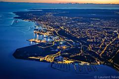 _D812335 : Electric Brest (Brestitude) Tags: city blue mer night port marina harbor brittany bretagne aerial breizh bleu brest nuit ville finistère aérien rade moulinblanc brestitude ©laurentnevo2015
