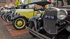 Line up (Met uiterst rechts een Ford A - Bouwjaar 1931 )- Oldtimer festival - Haastrecht (Frans Berkelaar) Tags: haastrecht zuidholland nederland nl forda ford oldtimer classiccar oldtimerfestival
