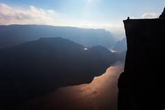 Splendour - Norway, Pulpit Rock (Nomadic Vision Photography) Tags: travel autumn nature norway nationalpark europe iconic atmospheric touristattraction preikestolen lysefjorden pulpitrock jonreid tinareid nomadicvisioncom