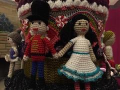 2015-10-06 21.07.24 (The Crochet Crowd) Tags: party crochet mikey exhibit yarn nutcracker artistry freeform caron simplysoft creativfestival yarnbomb crochetcrowd crochetnutcracker crochetstatue