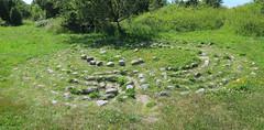 Forntida labyrint vid Lindblomsvgen, Hn, 2015 (biketommy999) Tags: panorama photoshop 2015 vstkusten labyrint hn fornminne biketommy biketommy999
