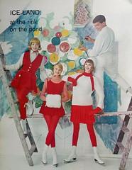 Seventeen Magazine editorial Nov. 1961 (barbiescanner) Tags: joandelaney seventeen vintageseventeen vintagefashions 60s 60sfashions retro editorial fashion winter 1960s 1961 figureskating
