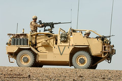 A Jackal Armoured Vehicle is put through it's paces in the desert at Camp Bastion, Afghanistan (chestwoodkitlo) Tags: uk afghanistan jackal desert military free british defense defence fre armouredvehicle campbastion wmik wmwik