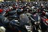 India - Odisha - Bhubaneswar - Motorcycles At Parking Lot