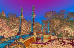 Variations on a Bridge - II (PuffinArt) Tags: trees water colors digital landscape nikon vivid ducks puffinart nikkor variation vr d300 18200mm vandamalvig