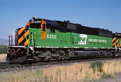 Burlington Northern BN SD60 8300 Acequia CO (Railblazer) Tags: acequia bn tigerstripes burlingtonnorthern emd sd60 burlingtonnorthernrailroad jointline bnrailroad emdsd60 emdlocomotive bnsd60 acequiacolorado emdsd60locomotive bnlocomotive standardcabsd60 coloradojointline burlingtonnorthernsd60 bnsd608300 bntigerstripepaintscheme bntigerstripes emdsd608300 sd60locomotive burlingtonnorthernlocomotive