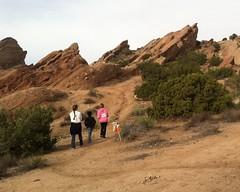 022 Hitting The Trail (saschmitz_earthlink_net) Tags: california control trail orienteering pacificcresttrail participant rockformations aguadulce vasquezrocks losangelescounty 2015 laoc losangelesorienteeringclub