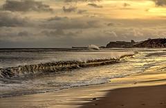 Breaking Wave! (Bev Cappleman) Tags: sunrise surf waves wave breakingwave sandsend