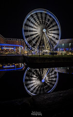 The Echo Wheel of Liverpool (TehJazzi Photography) Tags: liverpool city centre photography long exposure colours albert dock salthouse liver building canon nikon d5500 100d wide angle 10mm 50mm 30mm prime american diner bus old school retro life ring christmas lights festival wheel echo arena reflections water quay boat port winter dark shows rides fun fair beatles story artistic photographer canvas prints