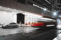 Zoom Chika - Toronto Street Cars (ravi_pardesi) Tags: happy new year 2017 toronto ontario canada discoveron blogto transportation ttc streets streetcar streetsoftoronto amazing awesomeness night nightphotography