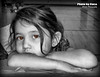 Jan 25 2015 - The apple of her mother's eye (La_Z_Photog) Tags: lazy photog elliott photography worland wyoming photoshop great niece mother eye black white selective color 012515titusbirthday