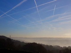 Day 5 (JoRoSm) Tags: halifax fog wainhouse tower johnedwardwainhouse wainhouse'sfolly folly landmark landscape valley sgs7 androidography sky skyporn contrails blue hills rolling 365days 365 365challenge daily