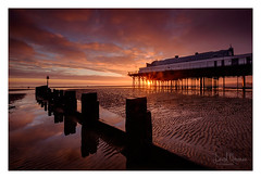 Cleethorps Pier (NorthernXposure) Tags: cleethorps coast beach sunrise dawn england groynes jetty sand