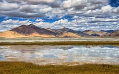 Tso Kar (Fil.ippo) Tags: salt lake salato lago tsokar hdr reflection india waterscape landscape filippo filippobianchi d610 nikon travel tibet ladakh paesaggio paanorama mirror
