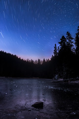 Startrails In the Balck Forest (LennartAiscan) Tags: star stars startrails night nightsky nightscape astro astrophotography galaxy dark ice frozen lake water reflection wild black forest blackforest landscapephotography landscape landscapes germany travel travelphotography hiking explore