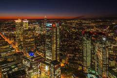 City lights at sunset (Frank Siebach) Tags: frankfurt am main sun set fuji xt2