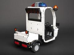 Police Cart from Zootopia (Sheo.) Tags: lego moc technic motorized powerfunctions zootopia zootropolis judyhopps car cart police scooter blogged ideas legoideas