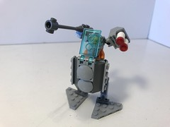 Recon Suit (KGoodlow) Tags: lego mecha mech guns missiles orange robot walker
