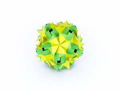 Platycodon (masha_losk) Tags: kusudama кусудама origamiwork origamiart foliage origami paper paperfolding modularorigami unitorigami модульноеоригами оригами бумага folded symmetry design handmade art