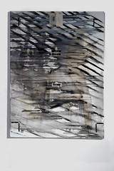 I am not (Kaja Utkowska) Tags: painting art collage exhibitionview exhibition womans feminism raster lines eyes bw transparent