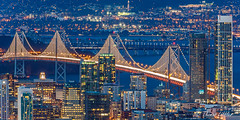night-time at the bridge (funtor) Tags: city night cityscape blue usa california exposure light color