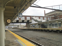 Lancaster Train Station 2017 PA 0275 (Brechtbug) Tags: lancaster train station january 19th 2017 pa pennsylvania trains bus facade penna holiday with clock transportation architecture building railroad buses profile amtrak 01192017 commuting art waiting room platform tracks