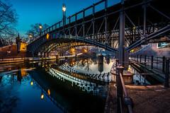 Double bridge :: Doppelbrücke in Berlin-Tiergarten (K.H.Reichert) Tags: lichter mirroreffect brücke river riverscape reflection spiegelung fluss bridge blauestunde nachtfoto berlin deutschland de