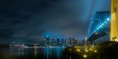 sydney (bart.kwasnicki) Tags: sydney australia panorama architecture outdoor nightscape storm longexposure skyline skycrapers operahouse harbourbridge