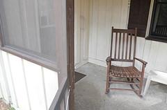 Cabin 9 enclosed porch rocker First Landing State Park (vastateparksstaff) Tags: cabin cinderblock 2bedroomcabin