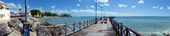 panorama with the pier at Speightstown, Barbados