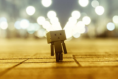 ♥Danbo discovers the big world :-)))♥ (eggii) Tags: street bokeh world lodz danbo danbodiscoversthebigworld