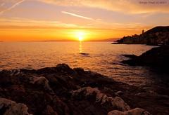 Sunset Bogliasco (- Crupi Giorgio (official)) Tags: italy liguria genova bogliasco reef sea sky seascape sunset sun landscape relax canon canoneos7d sigma sigma1020mm