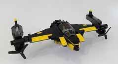 Sonic Bat v2.0 (Hendri Kamaluddin) Tags: sky plane airplane war lego aircraft fantasy airship airforce squadron moc fighterplane skyfi fantasyplane victorysquadron