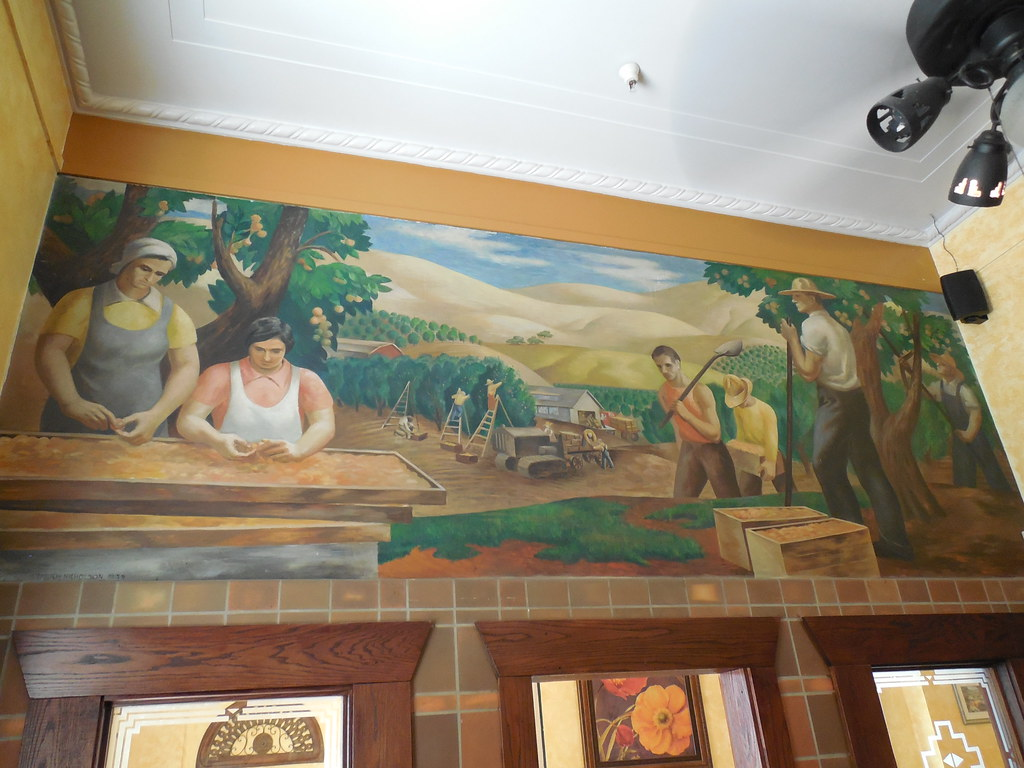 Vacaville, California Post Office Mural (jimmywayne) Tags: California  Restaurant Mural Downtown Vacaville