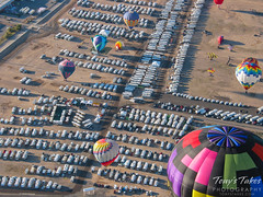 The massive RV parking area at the Balloon Fiesta