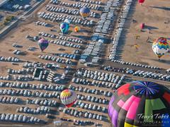 The massive RV parking area at the Balloon Fiesta