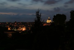 San Pietro View from Piazzale Giuseppe Garibaldi Rome Italy (Exploringeurope) Tags: longexposure travel italy rome roma outdoors italia cityscape nightshot outdoor traveling sanpietro vaticancity