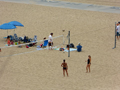 Santa Monica beach (lucre101) Tags: ocean california santa vacation usa sun west beach cali america fun coast kid sand pacific sunny suit southern socal monica bikini volleyball bathing