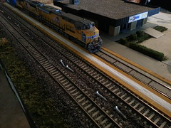 002 (Trains By Perry) Tags: up unionpacific ho hoscale emd sd70m hotrak geevolutionserieslocomotive 5000thgevo