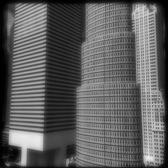 Flank (MPnormaleye) Tags: city urban bw monochrome miniature blackwhite model skyscrapers towers replica utata reproduction tabletop