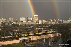 NS Plan V | Eindhoven | trein 5258 | 01-11-2012 (Freek1985) Tags: regenboog rainbow ns eindhoven emu talbot strijps planv reizigers beukenlaan reizigerstrein