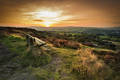Take a seat (chrissmithphotos1) Tags: travel pink light sunset wild sky cloud sun sunlight plant west flower nature field sunshine rural dark landscape outdoors evening countryside flora scenery view purple natural dusk heather yorkshire hill grow scenic meadow violet dramatic ground nobody growth bloom wildflowers halifax moor cloudscape norland