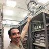 #gabriel en un #laboratorio #telecomunicaciones #gps arriba del rack
