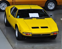 DeTomaso Pantera GTL Series I (1973) (Transaxle (alias Toprope)) Tags: auto italy berlin classic cars ford beautiful beauty car sport yellow tom vintage design amazing italian nikon italia power antique cleveland engine voiture historic retro exotic giallo coche soul carros classics carro vehicle oldtimer motor bella autos powerful iconic macchina 1973 v8 coches styling clasico ghia voitures toprope exotics pantera detomaso italiane meilenwerk 351 macchine vignale motore dreamcar d90 50v5f seriesi midship gtl midengine tjaarda rmr midshiprunabout tomtjaarda italauto 58liter rmrlayout italianblood midshipengine centralengine classicremise